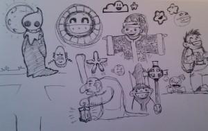 The Chibi Tarot - Original Sketches 1