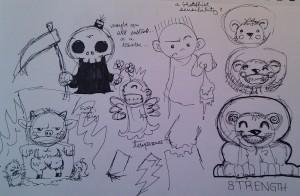 The Chibi Tarot - Original Sketches 2
