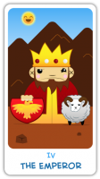 The Chibi Tarot - Major Arcana - IV The Emperor