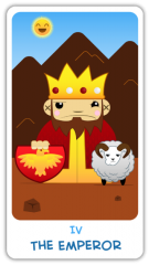 The Chibi Tarot - The Emperor