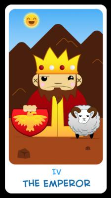 The Chibi Tarot - Major Arcana - IV The Emperor