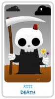 Chibi Tarot - Major Arcana - XIII Death
