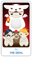 The Chibi Tarot - Major Arcana - XV The Devil