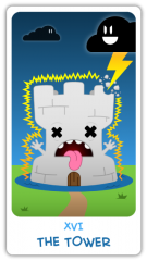 The Chibi Tarot - The Tower