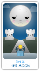 The Chibi Tarot - The Moon