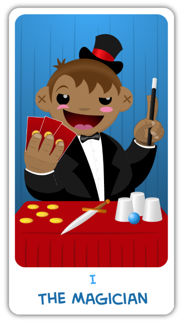 The Chibi Tarot - Major Arcana - I TheMagician