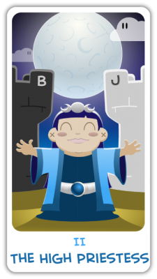 The Chibi Tarot II - The High Priestess