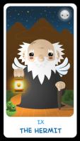 Chibi Tarot - IX The Hermit