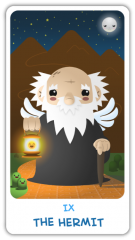 The Chibi Tarot - The Hermit