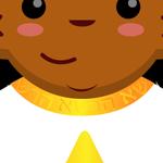 Chibi Tarot - Asherah Worked into the Collar