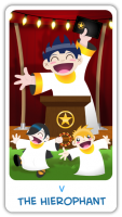 The Chibi Tarot - 05 The Hierophant