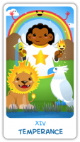 The Chibi Tarot - 14 Temperance - Medium
