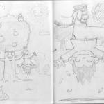 Chibi Tarot - Sketches - The Hanged Man
