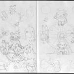 Chibi Tarot - Sketches - Wheel of Fortune 03