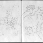 Chibi Tarot - Sketches - Wheel of Fortune 04