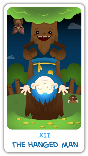 The Chibi Tarot - 12 - The Hanged Man
