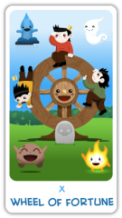 The Chibi Tarot - The Wheel of Fortune