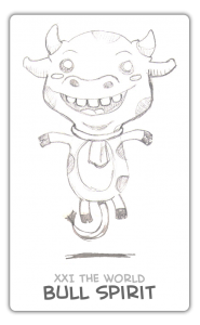 The World Card - Guardian Spirit - Bull