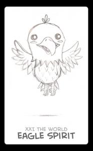 The World Card - Guardian Spirit - Eagle