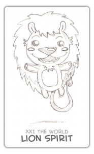 The World Card - Guardian Spirit - Lion