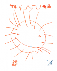 Tarot Major Arcana - The Sun as drawn by my son