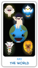 The Chibi Tarot - 21 The World