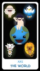 The Chibi Tarot - 21 The World